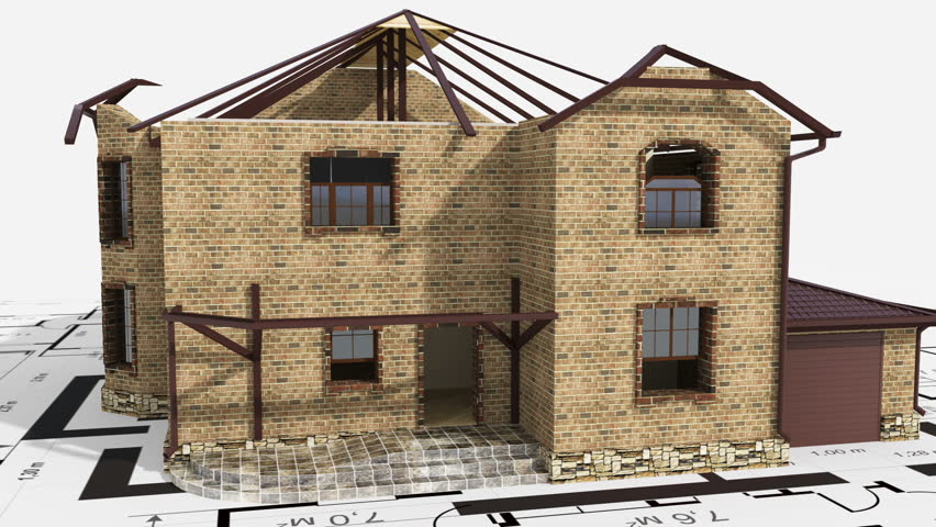 Construction of residential house | Shutterstock HD Video #2922043