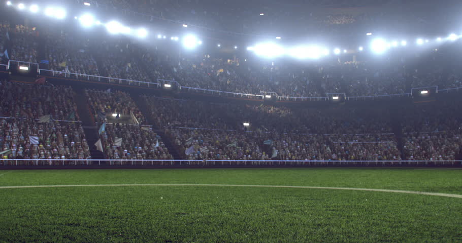 4k footage of a soccer player in dramatic play during a soccer game on a professional outdoor soccer stadium. Players wear unbranded uniform. Stadium and crowd are made in 3D. | Shutterstock HD Video #29237623