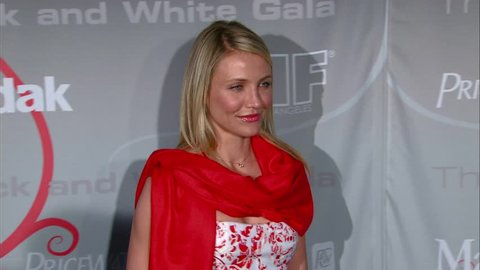 Beverly Hills, CA - JUNE 17, 2008: Cameron Diaz, walks the red carpet at the Crystal and Lucy Awards 2008 held at the Beverly Hilton Hotel