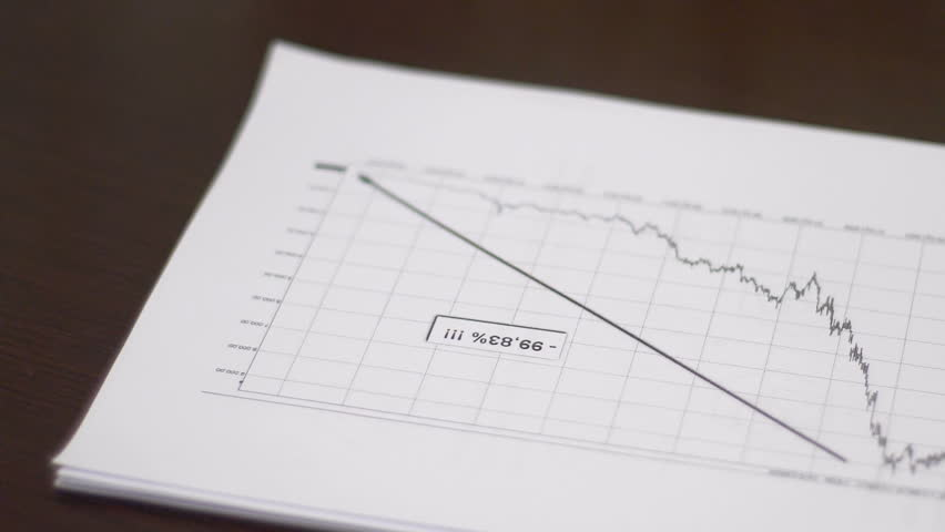 Punch of angry businessman knocks on economic charts | Shutterstock HD Video #29332186