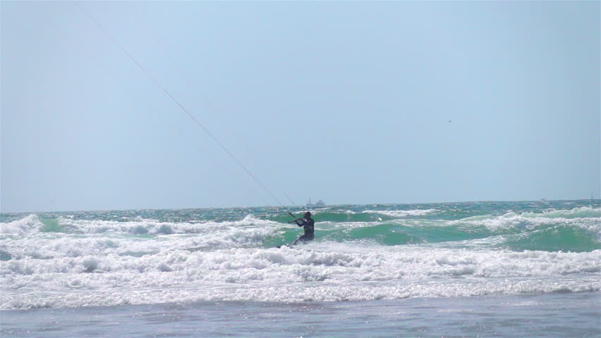 Kitesurfing, slow motion 250fps | Shutterstock HD Video #29428993