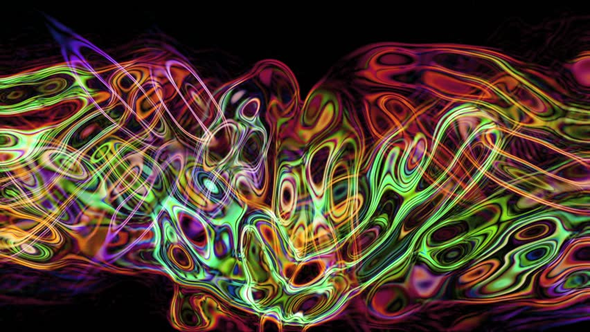 HD - Motion 527: Abstract fluid forms pulse, ripple and flow (Loop).