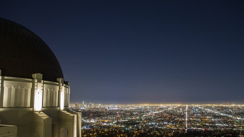 Los Angeles time lapse with Griffith Observatory on left | Shutterstock HD Video #2943433