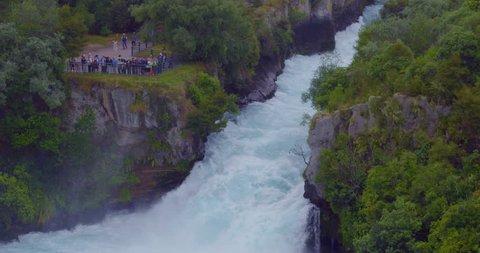 aerial of Huka falls, Waikato river, taupo, New Zealand