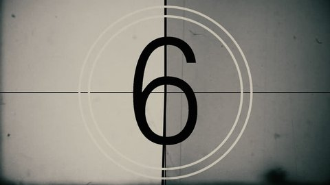 Vintage Film Countdown Amazing Vintage Countdown  Digitally created in 4K 4096x2304 using After effects, Based on 8mm Film