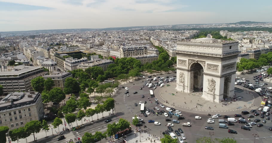 Aerial view of Arc of Triumph, Paris  | Shutterstock HD Video #29481733