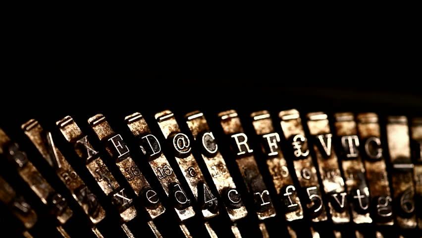 Close up of Typewriter