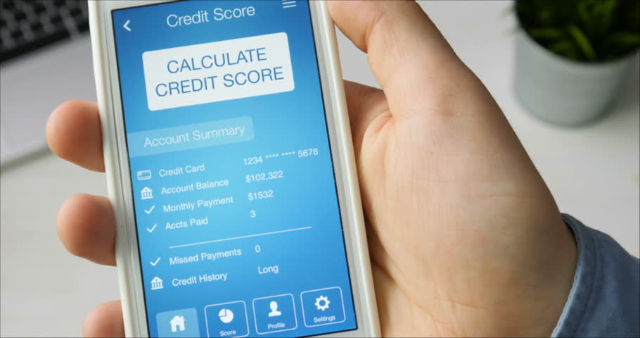 Checking credit score on smartphone using application. The result is GOOD | Shutterstock HD Video #29520763