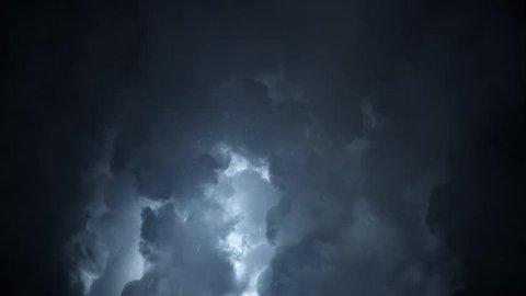Rain Drops Falling off a Heavy Stormy Sky