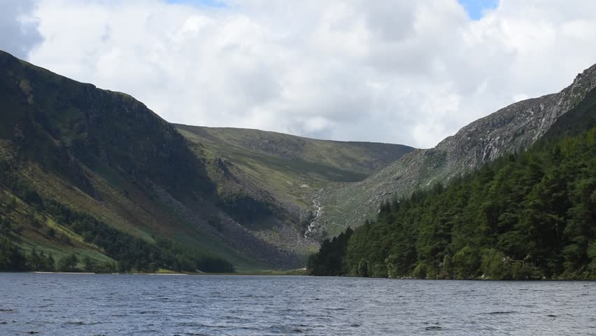 """Glendalough """"Valley of the Two Lakes"""" in Wicklow Mountains - Ireland/ Glendalough/ Glendalough Lake in the forest in Ireland 