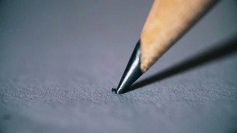 Breaking the tip of a pencil: stress, anger ,frustration- slow motion