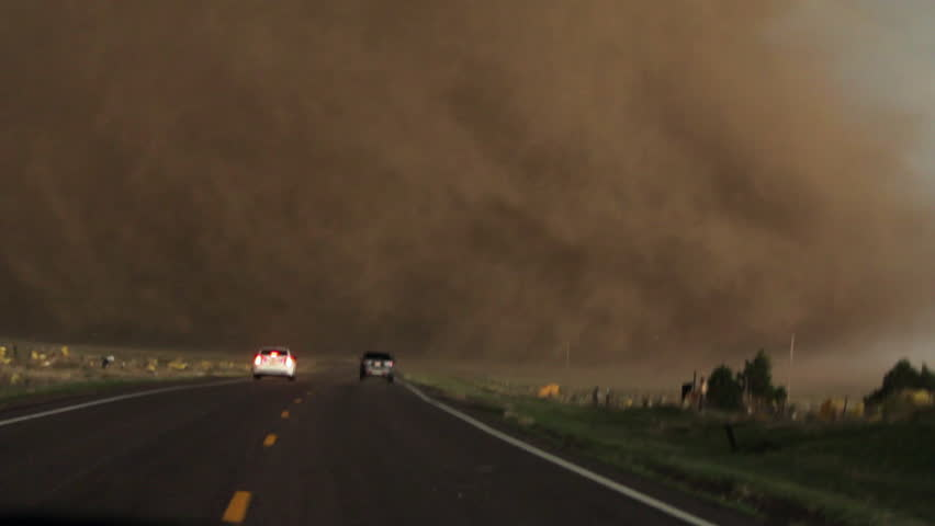 Tornado with Storm Chasers Close Up - Wray, CO