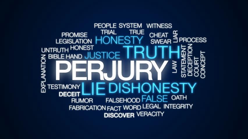 Header of perjury