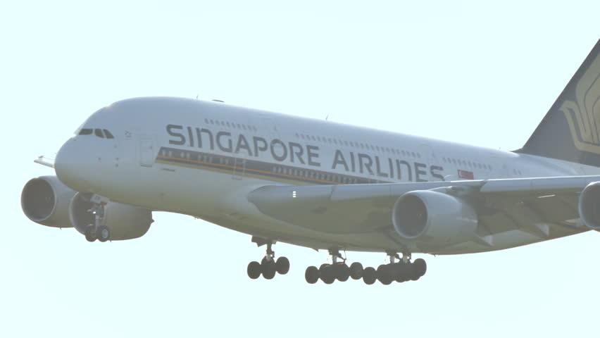 SINGAPORE AIRLINES AIRBUS A380-800 9V-SKN at NARITA AIRPORT JAPAN - June 3, 2016