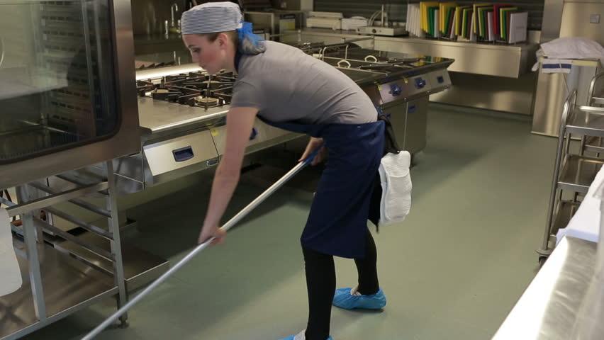 Mopping Floor Stock Footage Video Shutterstock