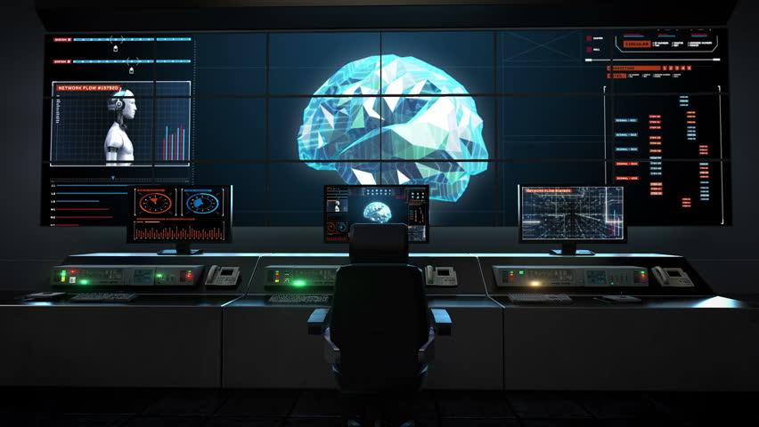 Entering to spaceship 39 s captain 39 s bridge spectacular view for Futuristic control room