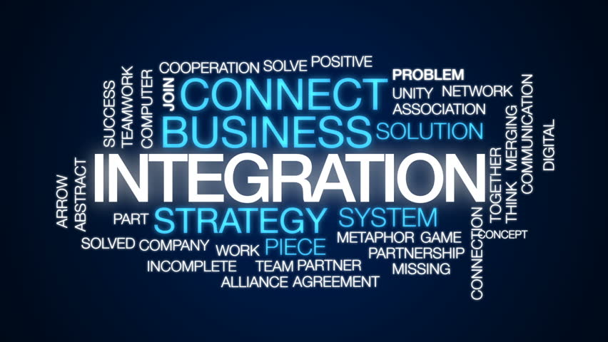 Integration animated word cloud, text design animation.
