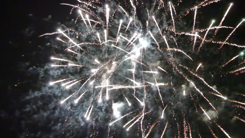 Fireworks, beautiful fireworks. Delight of people. | Shutterstock HD Video #29949463