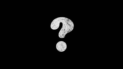 chalk draw question mark sign animation on blackboard background seamless loop \ new dynamic  joyful video footage
