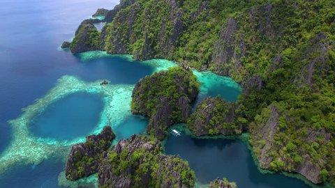 Coron island aerial view, Palawan, Philippines.