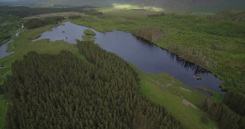 Aerial Around Tawnyard Lough, County Mayo, Ireland - Native Version