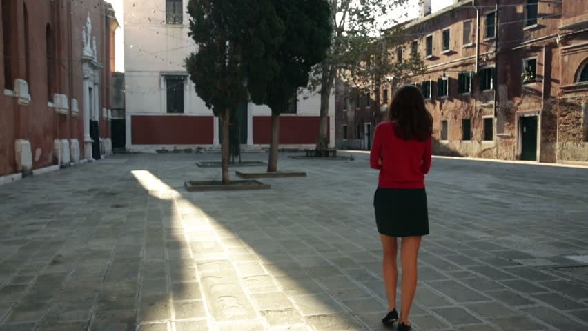Lonely girl in Venice