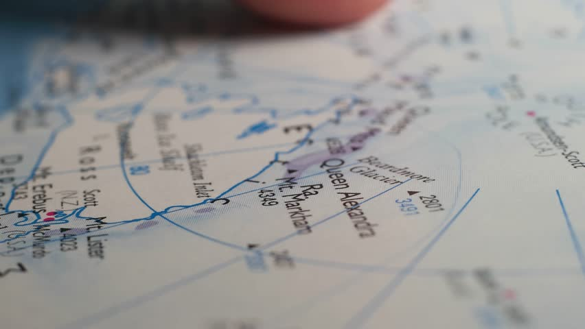Close up of a Detailed World Map
