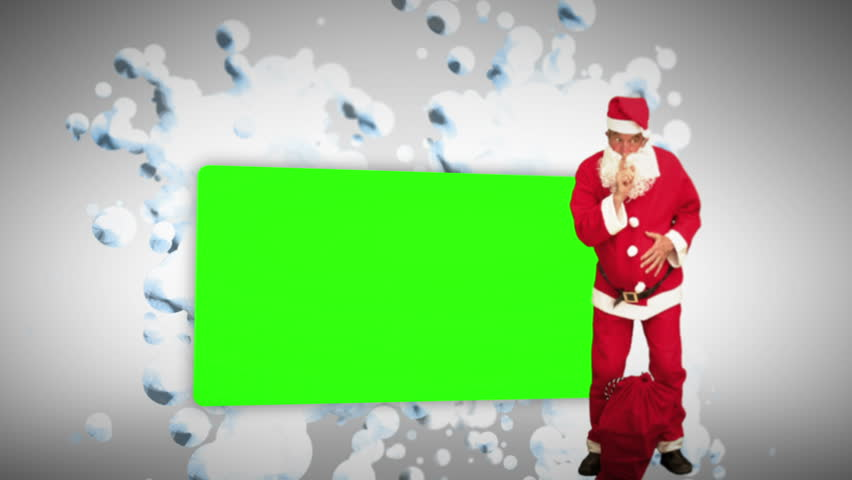 Christmas animation with green screen against white background