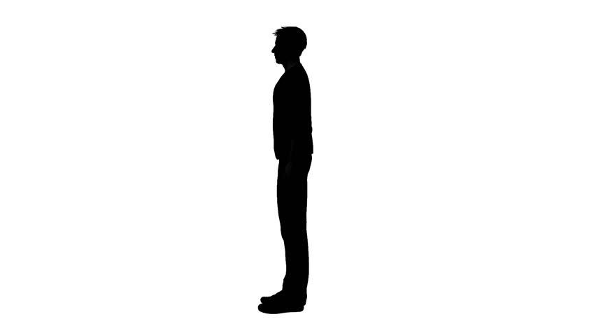 silhouette of man walking