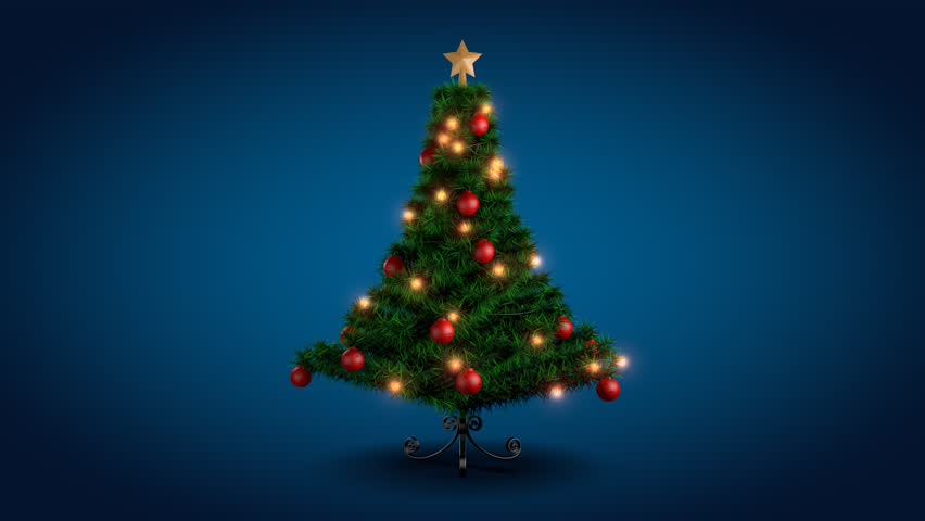 rotating christmas tree over blue stock footage video 100 royalty free 3008143 shutterstock