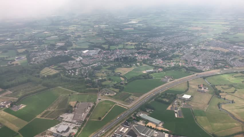 Landing at Eindhoven airport The Netherlands
