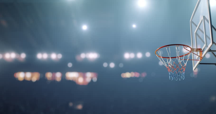Basketball player makes a slam dunk during a game. He wears unbranded sport clothes. | Shutterstock HD Video #30128872