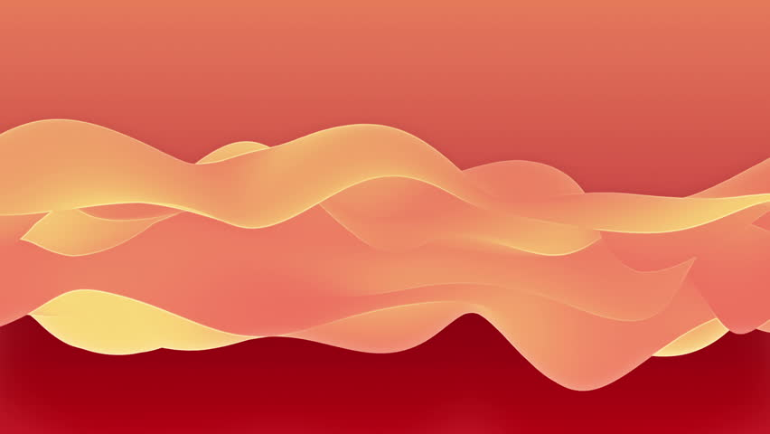 Abstract background waving with silk to the wind, colourful waves and ripples surface. Clear backdrop of ripple fabric, energy flow or smoke. Beautiful abstraction of glowing cloth.