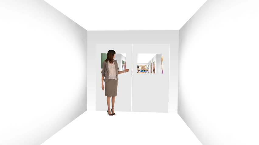 Animation of a teacher presenting her classroom and her pupils