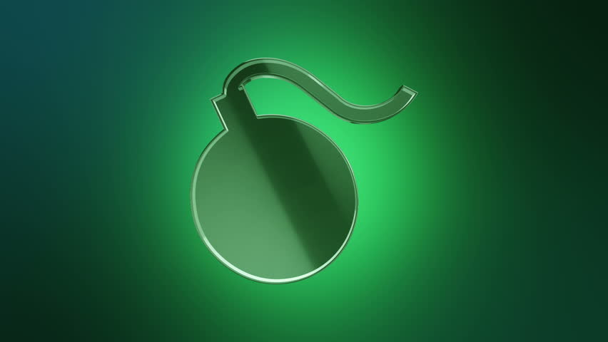 3D Animation rotation of symbol of weapons, army, war, fights, warfare, attacks, crime and destruction from glass. Animation of seamless loop. | Shutterstock HD Video #30166261