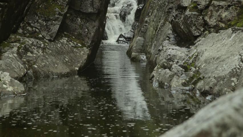 Adirondack brook and waterfall.