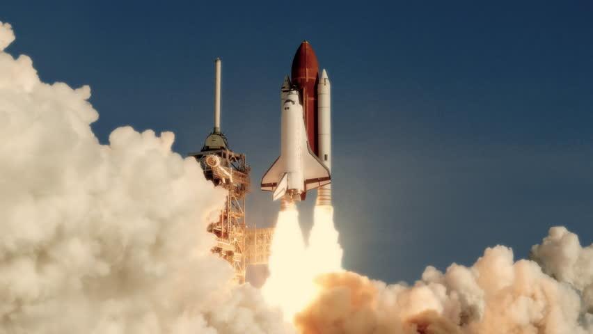 Space Shuttle Launch In Slow Stock Footage Video 100 Royalty Free 30194533 Shutterstock