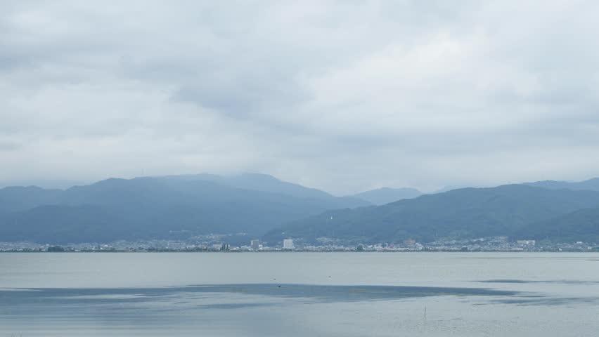 Landscape of Suwako lake in Japan | Shutterstock HD Video #30195883