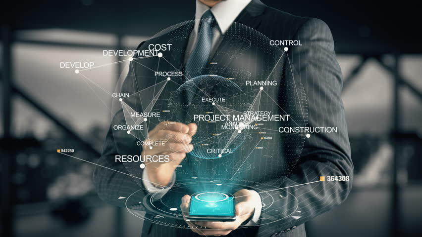 Businessman with Project Management