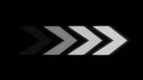 Arrows moving left to right. Abstract CGI animated motion backgrounds ideal for editing, led backdrops, social or broadcast. White and Grey