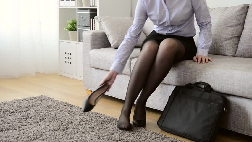 Magnificent Taking off pantyhose after work