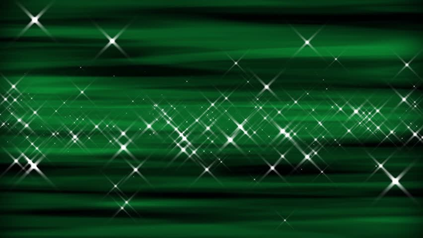 Perfectly seamless loop with a emerald green abstract motion pattern and sparkling bright star particles. Color might be great for Christmas or St. Patrick's Day! HD widescreen 1920x1080p.