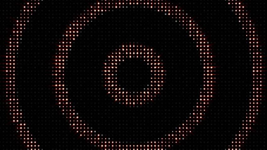 CIRCLES LIGHTS BULB, Animation, Rendering, Background, Loop, 4k