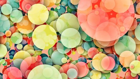 Abstract colorful circles loop background - different color schemes available