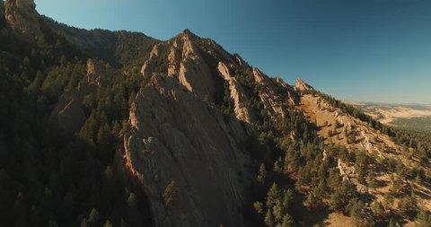 Flatirons Boulder Colorado Aerial Shot 2