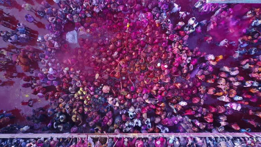 How To Make Colored Powder, Holi Festival. The Hands Are Salting ...