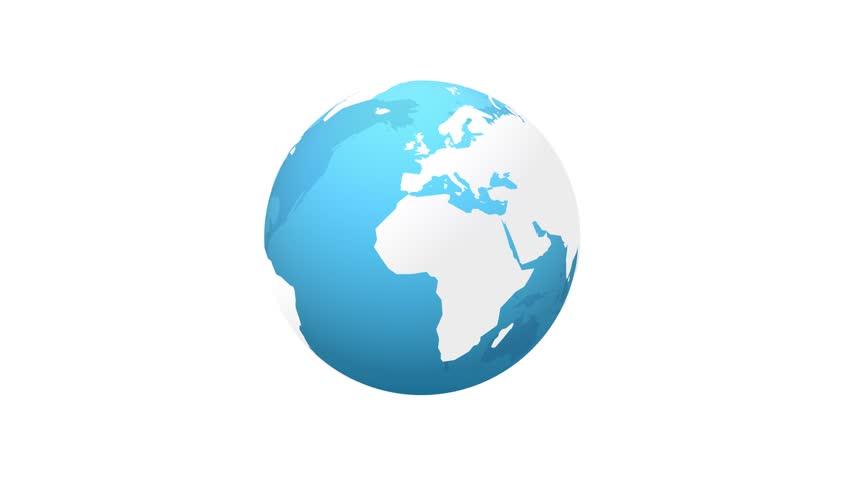 transparent planet earth rotation loop