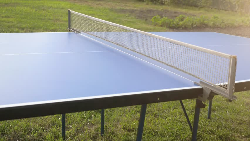 Playing table tennis game outdoor close-up on sunny da in slow motion. 4k, 3840x2160 | Shutterstock HD Video #30733069