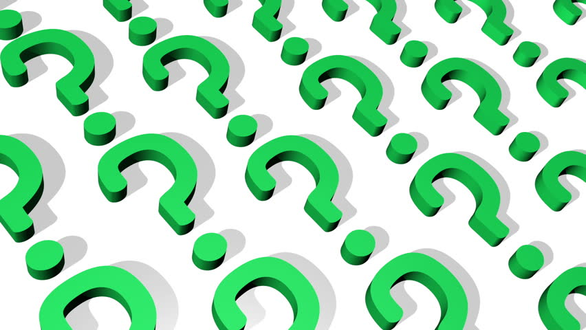 Question Mark Looping Animated Background
