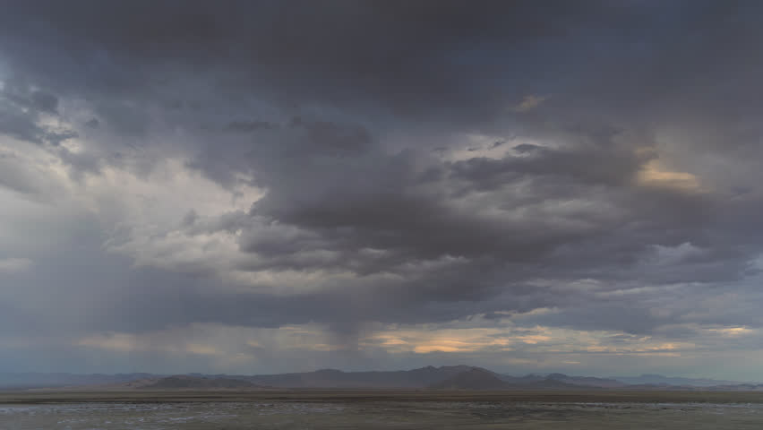 Thunderstorm Mojave Desert with Distant mountains 4K from 6K source | Shutterstock HD Video #30764287